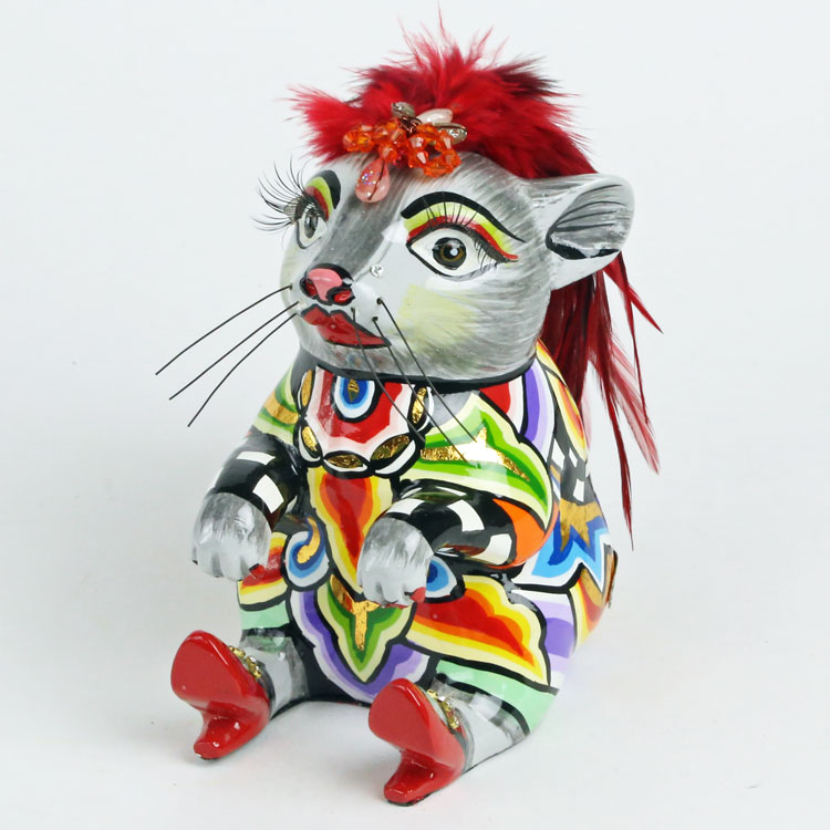 Mouse Ginger TOMS Drag・ねずみ ネズミ 鼠 マウス ハンドペインティング/ポップ/アート/トムズドラッグ/トーマス・ホフマン/置物 デコレーション ショーウィンドウ