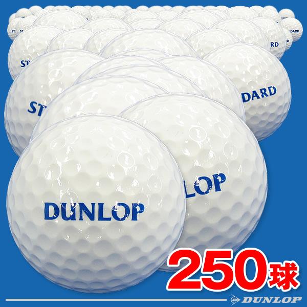 【ダンロップ】練習用ゴルフボール(レンジボール) スタンダードSF 250球入り【スタンダードタイプのワンピース】【打ちっぱなし練習場使用ボール】
