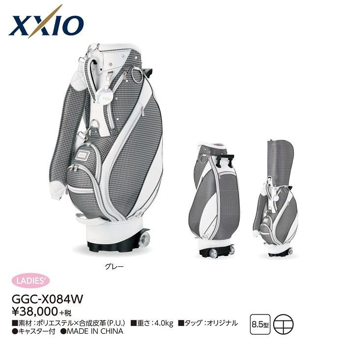 【ダンロップ】XXIO(ゼクシオ)レディス キャスター付きキャディバッグ GGC-X084W【ネームプレート刻印サービス】