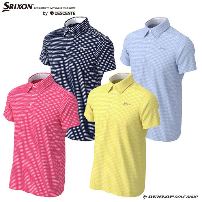 SRIXON(スリクソン)デサントメンズ 針抜きジャカードチェックシャツ 【2020年SSモデル】 RGMPJA03
