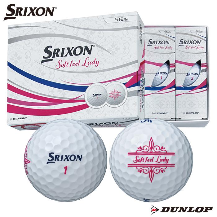 信頼のダンロップ正規直営店 ダンロップゴルフショップ =オウンネーム= 割引 ダンロップ ゴルフボール スリクソン SOFT FEEL LADY 1ダース ホワイト 爆安プライス ソフトフィール レディース 2021年モデル SRIXON