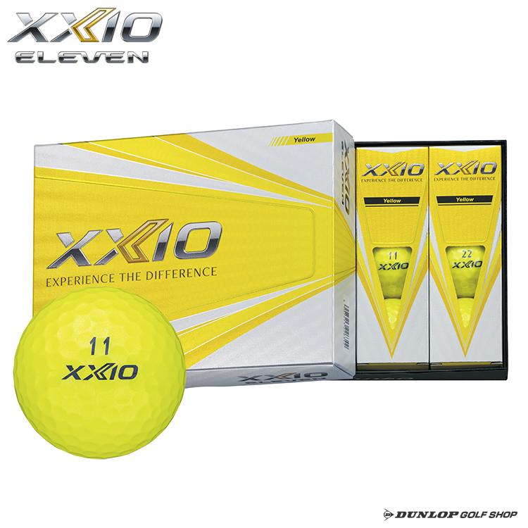 【ダンロップ】ゴルフボール XXIO ELEVEN(ゼクシオ イレブン) イエロー 1ダース(12個入り)【オウンネーム無料】【2019年新製品】