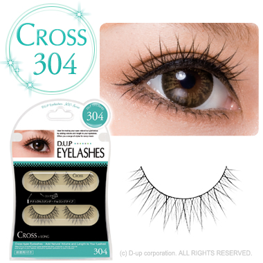 D-UP EYELASHES CROSS 304