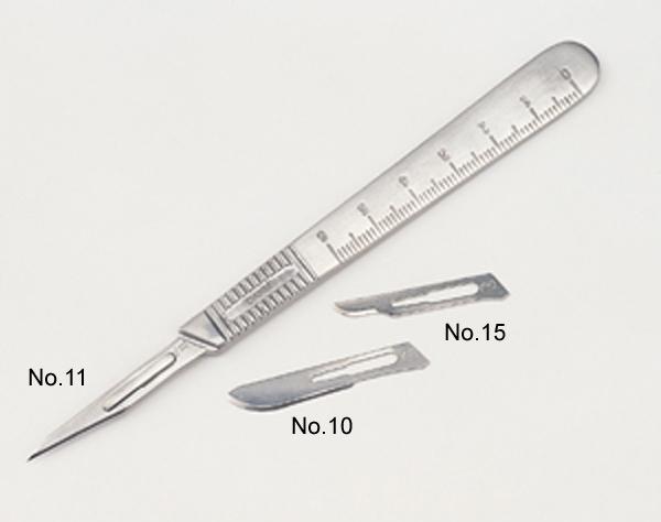 奉呈 No.10 No.11 No.15と形状の異なる3枚の刃をセットにした丈夫な柄のナイフです DAHLE 激安挑戦中 替刃タイプ-刃3枚付き ダーレ メタルスカルペル