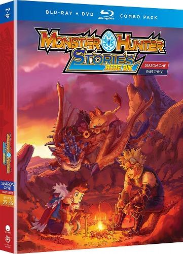 モンスターハンターストーリーズ RIDE ON 第1期 Part3 北米版DVD+ブルーレイ 25~36話収録 BD