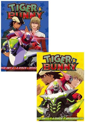 TIGER & BUNNY タイガー・アンド・バニー part1+part2■北米版DVD■全25話収録 タイバニ