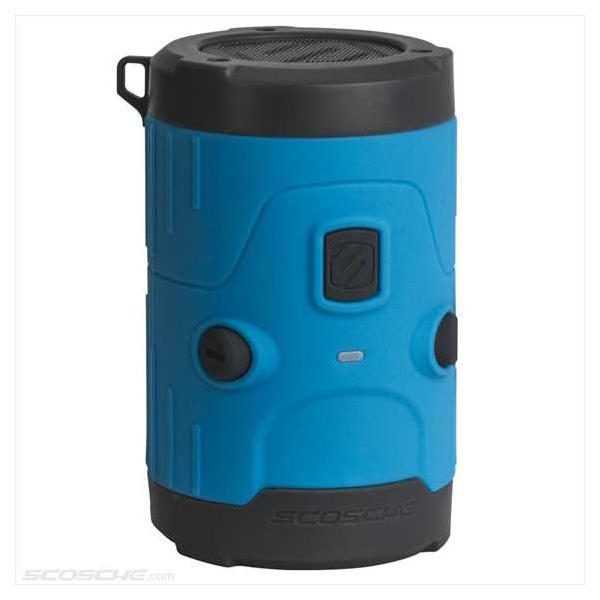 SCOSCHE BOOMBOTTLE H2O 入浴・サイクリング・アウトドアに最適! 高性能高音質 防水耐衝撃ワイヤレススピーカー ブルー BLUE【家電/オーディオ】