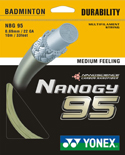 メール便送料無料 いよいよ人気ブランド YONEX バドミントンストリング セール特価 ガット 海外版 NBG95 ナノジー95