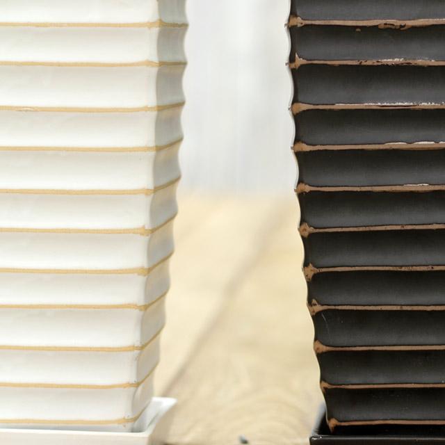 因为asupureniumu·绿宝石波细长所以容易装饰!陶器钵缝制