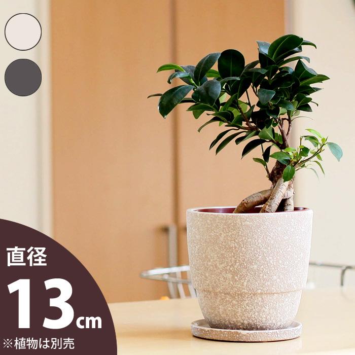 3.5~4号の植物向け 正規品送料無料 おしゃれな植木鉢 ちょっと異国情緒 直送商品 13cm ぽっこりtype 植物の魅力を際立たせる陶器鉢