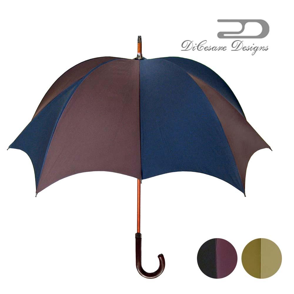 日本製 デザイナーズブランド 傘 DiCesare Designs GRANDE ディチェザレ デザイン グランデ 『two tone』 男性用 雨傘 かさ カサ おしゃれ 紳士用 深張り ドーム型 102cm 紫系 パープ クリスマス プレゼント