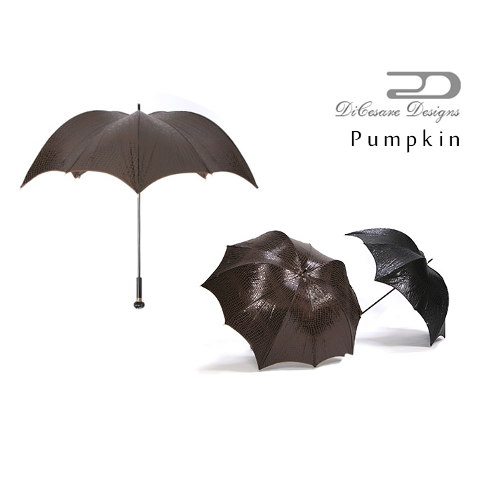DiCesare Designs ディチェザレ デザイン『PUMPKIN 雨傘 CROCODILE JACQUARD』 傘 雨傘 かさ カサ レディース ユニセックス メンズ ブランド お洒落 オシャレ セレブ 高級