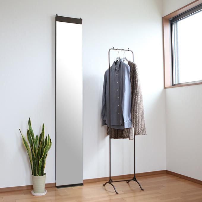 【 本当の自分 を映し出す 】 スタンドミラー 全身 姿見 鏡 全身鏡 壁掛け 幅30 ノンフレーム ミラー アンティーク 日本製 大きい リビング アイアン ロング おしゃれ スタンドミラー 壁掛け鏡 スリム 全身ミラー 壁面ミラー 玄関 シンプル リルミー