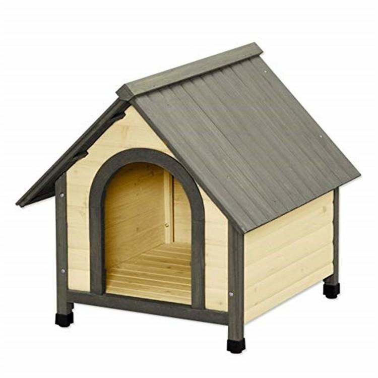 犬小屋 ウッディ犬舎 WDK-750 ブラウン(中型犬用/犬小屋 屋外用/アイリスオーヤマ/あたたかみのある木製の屋外用犬舎)【送料無料】