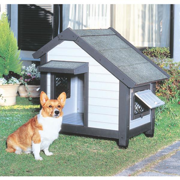 コテージ犬舎 CGR-830 グレー ペットと暮らす 犬小屋 ハウス 飼育 ペットグッズ アイリスオーヤマ【ペット用品/犬】[cpir]