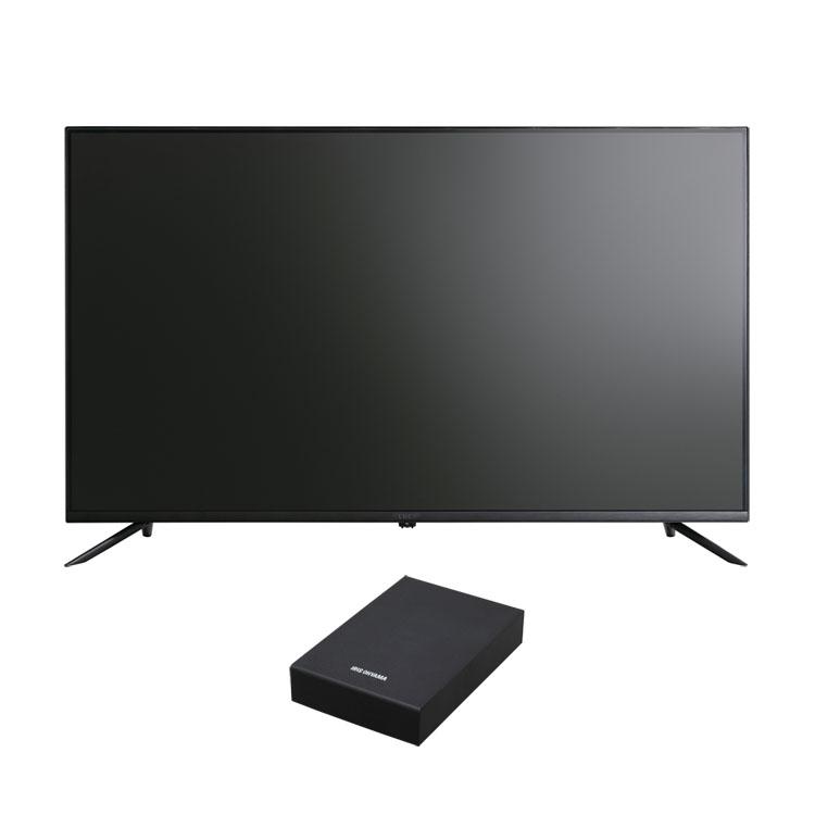4Kテレビ ベゼルレスK 43型 外付けHDDセット品送料無料 テレビ HDD セット TV 4K 43V 43型 外付け ハードディスク アイリスオーヤマ