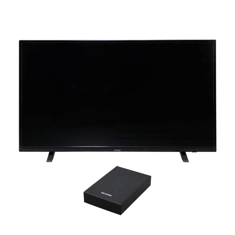 テレビ Fiona 43型 外付けHDDセット品送料無料 テレビ HDD セット TV 2K 43V 43型 外付け ハードディスク アイリスオーヤマ