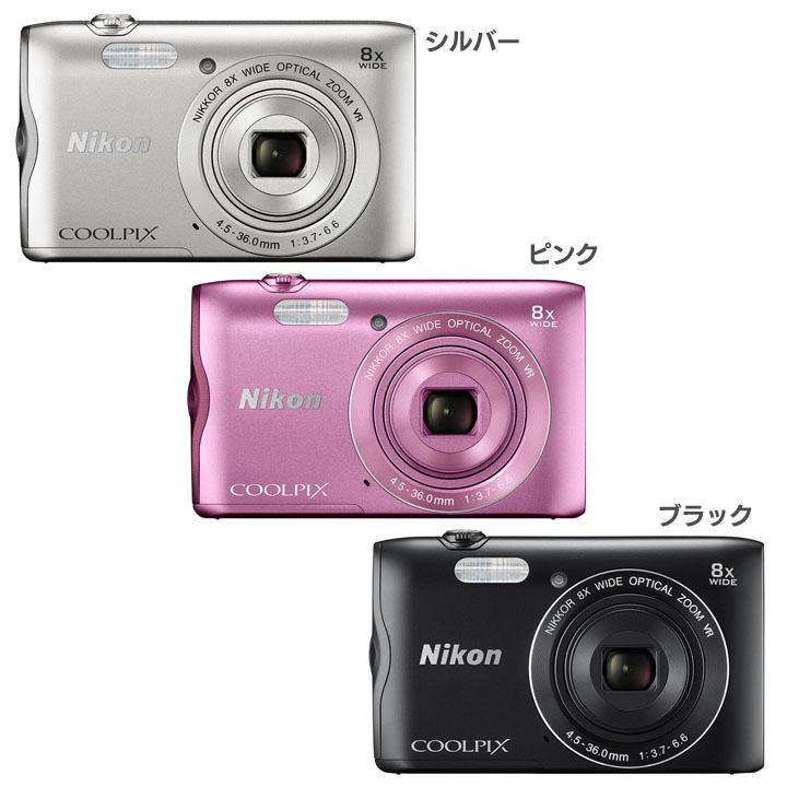 COOLPIX A300SL送料無料 デジタルカメラ カメラ 写真 デジカメ ニコン シルバー・ピンク・ブラック【D】