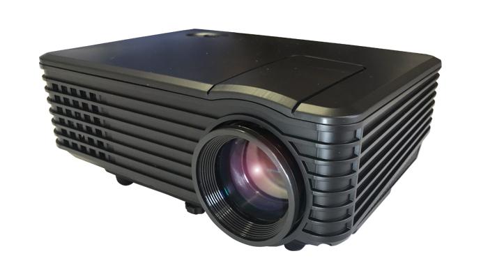 LEDコンパクトホームプロジェクター ブラック RA-P800送料無料 スタンダードモデル 投影 映像 出力 ラマス 【D】