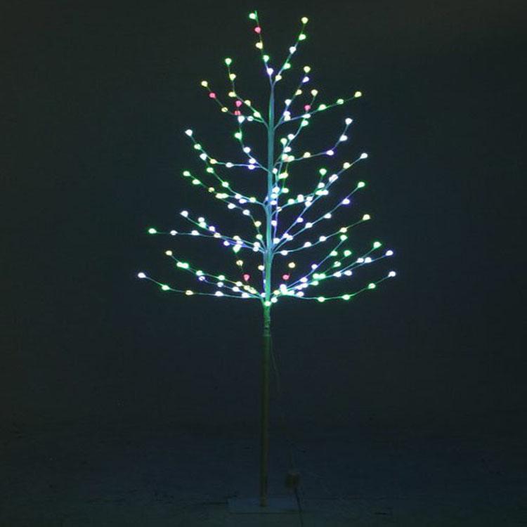 レインボーツリー180CM ホワイト 16433送料無料 クリスマスツリー ブランチツリー ツリー イルミネーション LED LEDライト クリスマス Xmas 北欧 不二貿易 【D】