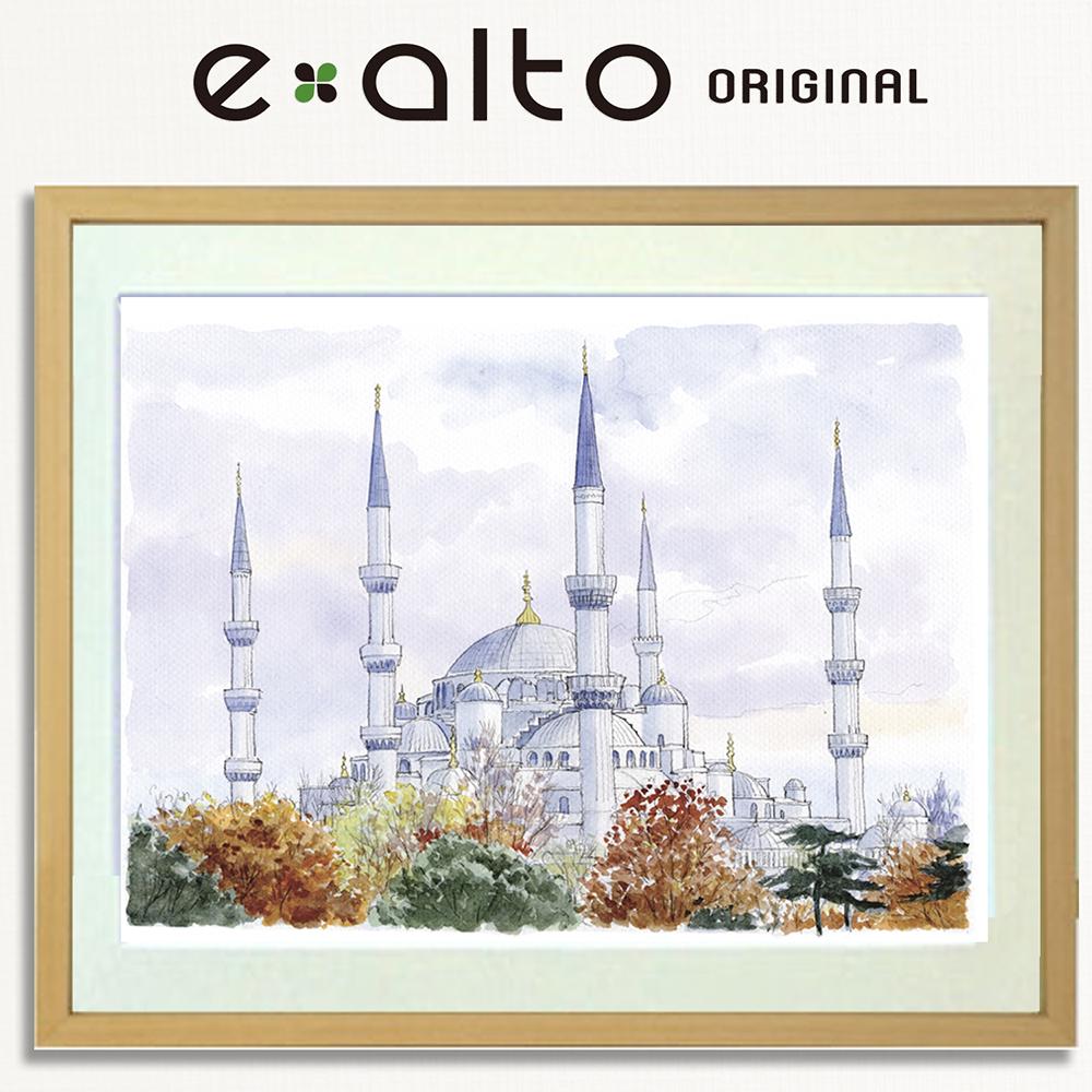 壁掛けインテリア イラストジグレー イスタンブールの景色 水彩画 ギフトにも最適