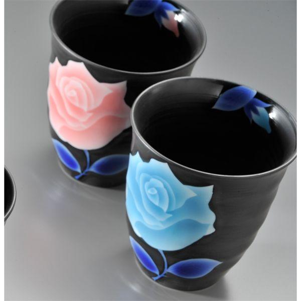 【名入れ専門】【名入れギフト 陶器】有田焼 薔薇フリーカップ 2点セット