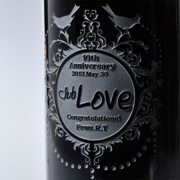Name put gift ワインフルボトル & crystal wine glass, set of 3