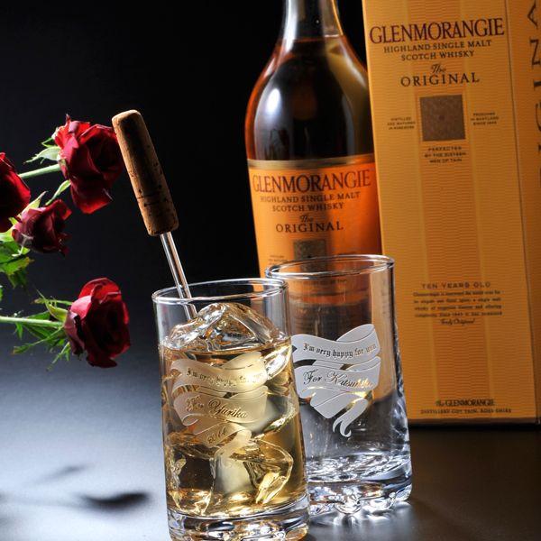 【名入れ専門】【名入れ プレゼント】【 酒 】【 ワイン 】 グレンモーレンジ オリジナル   バーゼル タンブラーギフトセット