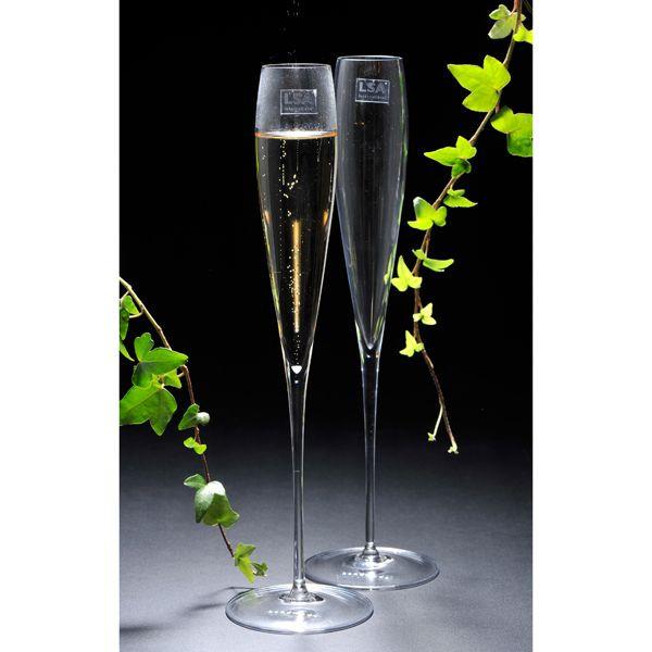 【名入れ専門】【名入れ プレゼント】【デザイナーズ】SAVOY シャンパンフルートペアセット