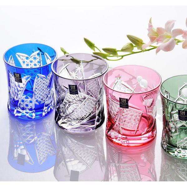 【名入れ専門】【名入れ プレゼント】 グラス ギフト 八千代切子 杵型焼酎グラス