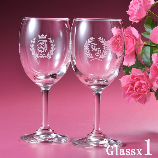 Initials engraved wine glasses (/ gifts / gift set / 内 祝 I / marriage 内 祝 I / wedding / return / gifts / father's day / mother's day / grandparents ...