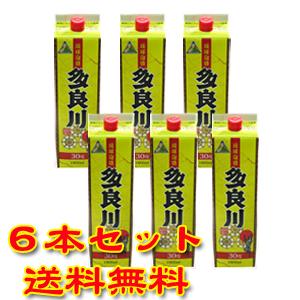 多良川 30度 1800ml 紙パック 6本セット 【泡盛】【送料無料】