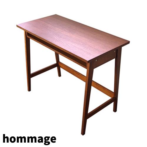 【送料無料】hommage Desk天然木 オーク材オマージュ シリーズクラシック 市場株式会社 HMT-2462BR