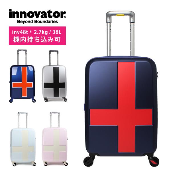 ポイント10倍 イノベーター スーツケース キャリーケース 機内持ち込み 38L 1~3泊用 ジッパー 静か 4輪 かわいい インスタ映え 旅行 innovator 327-INV48T キャリーバッグ sサイズ mサイズ ラゲージ baggage クロス サイレント タイヤ ネイビー ピンク 水色 グレー