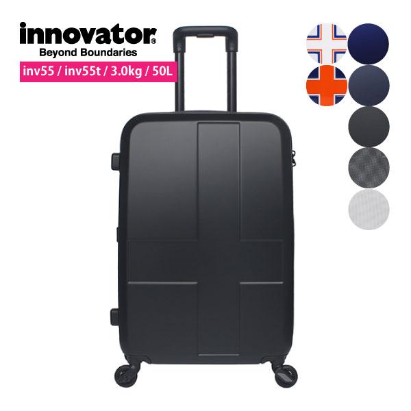ポイント10倍 イノベーター スーツケース キャリーケース TSAロック 50L 4~6泊用 ジッパー 4輪 旅行 luggageおしゃれなラゲージ キャリーバッグ mサイズ innovator 327-INV55 INV55T インディゴ ブルー ブラック ホワイト