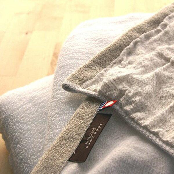 """浴巾""""主意左拉·高级""""淋浴毛巾(亚麻布/白)"""