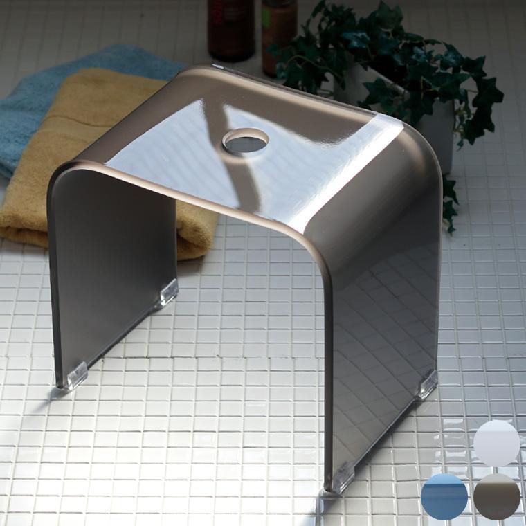 バスチェア アクリル「Foschia(フォスキア)」風呂イス(32型)【アクリルバスチェア バスチェアー 腰かけ フロイス 風呂椅子 高さ32cm クリア バススツール おしゃれ シンプル 透明 無地】【送料無料】