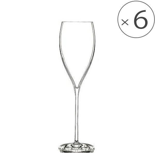シャンパングラスフルート「Bormioliluigi(ボルミオリルイジ)」マニフィコフルートグランキュヴェ(6個セット)(320cc)[lg-247]【グラス セット クリスタル シャンパングラス おしゃれ】