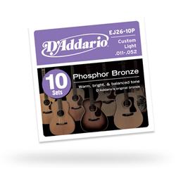Daddario ダダリオ ダダリオ アコースティックギター弦マルチパック EJ26-10P (EJ26の10セットパック) 仕入先在庫品【10P03Dec16】