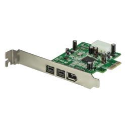 StarTech.com FireWire400 x1/800 x2増設PCIeカード PEX1394B3 目安在庫=△【10P03Dec16】
