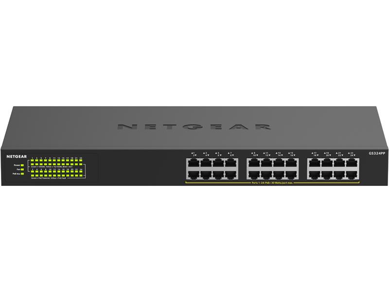 ネットギア・インターナショナル PoE+対応(380W)ギガビット24ポートアンマネージスイッチ GS324PP(GS324PP-100AJS) 目安在庫=△【10P03Dec16】