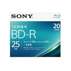 ソニー ビデオ用BD-R 片面1層25GB 4倍速 ホワイトプリンタブル 20枚パック(20BNR1VJPS4) 目安在庫=△【10P03Dec16】