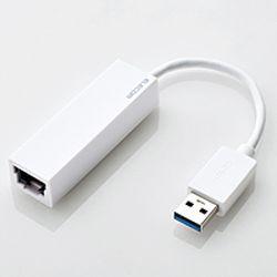 エレコム 有線LANアダプタ 【 Nintendo Switch 動作確認済 】 USB3.0 ギガビット対応 ホワイト EDC-GUA3-W メーカー在庫品【10P03Dec16】
