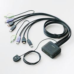 エレコム フルHD対応 HDMI対応パソコン切替器 KVM-HDHDU2 メーカー在庫品【10P03Dec16】