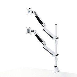 サンワサプライ 水平垂直多関節液晶モニターアーム(上下2面・ホワイト) CR-LA1303WN メーカー在庫品【10P03Dec16】