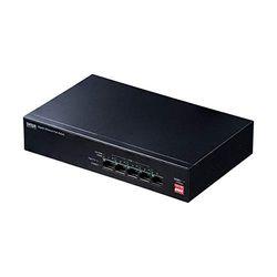 サンワサプライ 長距離伝送・ギガビット対応PoEスイッチングハブ(5ポート)(LAN-GIGAPOE51) メーカー在庫品【10P03Dec16】