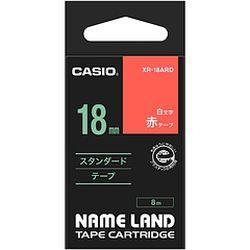 大人気 カード決済可能 2021年4月度ショップ オブ ザ 輸入 マンス 都道府県賞を受賞致しました カシオ計算機 18ミリ XR-18ARD 10P03Dec16 メーカー在庫品 ネームランドテープ 赤地に白文字