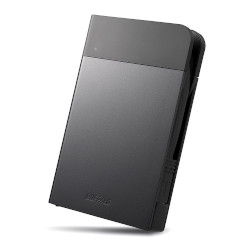 バッファロー HD-PZN1.0U3-B ICカード対応 耐衝撃 ポータブルHDD 1TB ブラック 目安在庫=△【10P03Dec16】