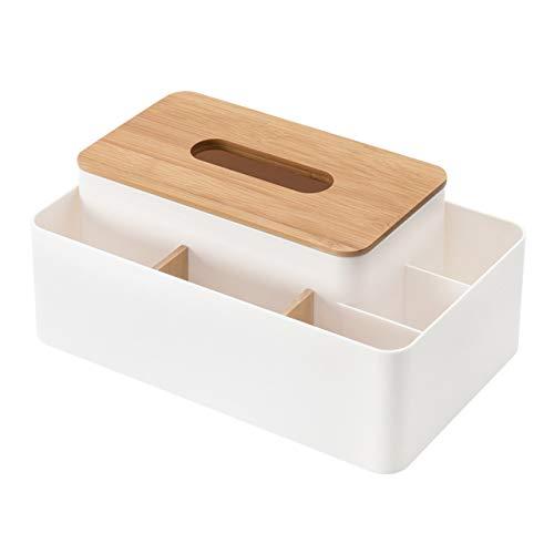 授与 リモコンラック ティッシュケース ティッシュボックス 化粧品収納 小物入れ 分格デザイン北欧 おしゃれ 新作 人気 多機能収納 ホワイト 卓上