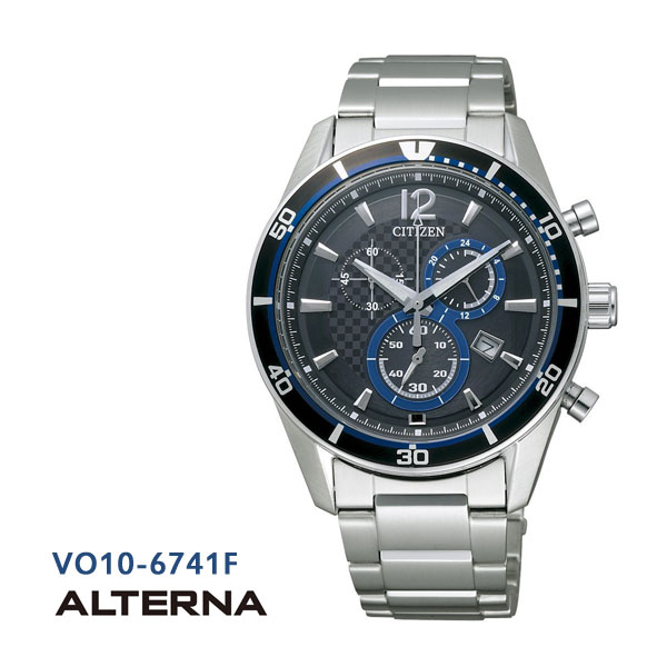 CITIZEN citizen ALTERNA alternative eco-drive chronograph VO10-6741F